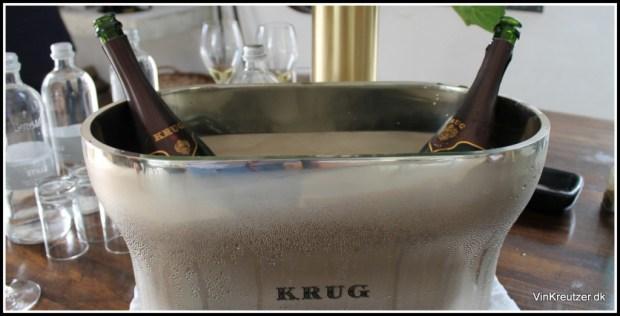 Champagnekøler til enhver Gastromand, med 2 flasker Krug Vintage