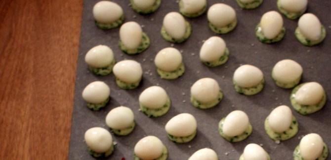 Nytårsmenu 2013 – Snack #2: Syltede vagtelæg med urtemayo