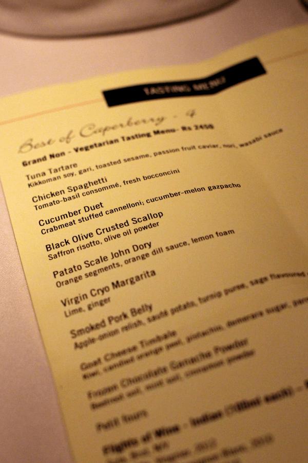 Aftenens menu...