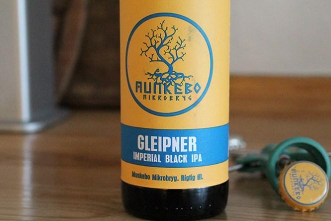 Kulsort IPA inspireret øl fra Munkebo Mikrobryg