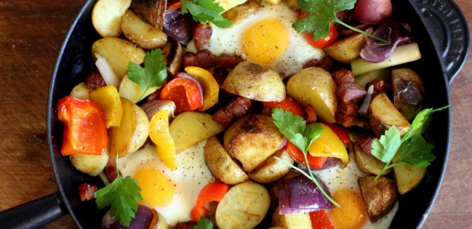 Breakfast for Champions: Farmer potato and bacon pan