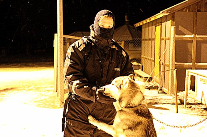 Familiefaren og et stk. slædehund...