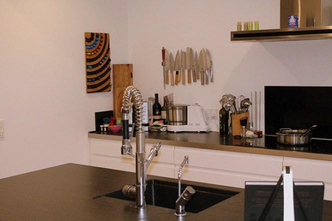 Quooker er naturligvis en del af køkkenet.