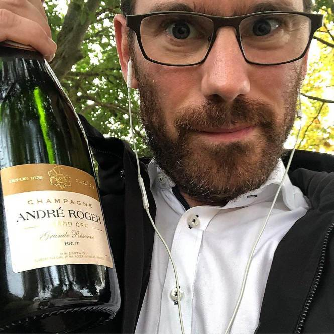the johan med champagne - global champagne day 2018