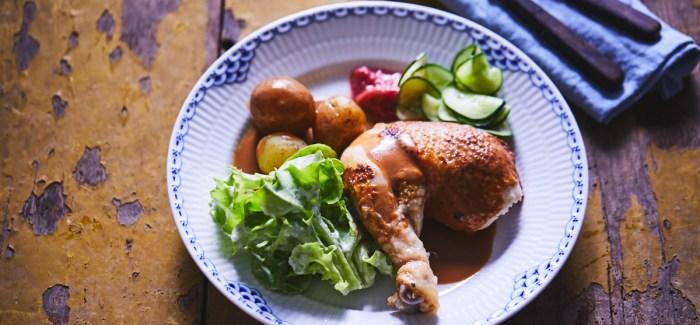 Kylling Danois – Grydestegt kylling à la mormor