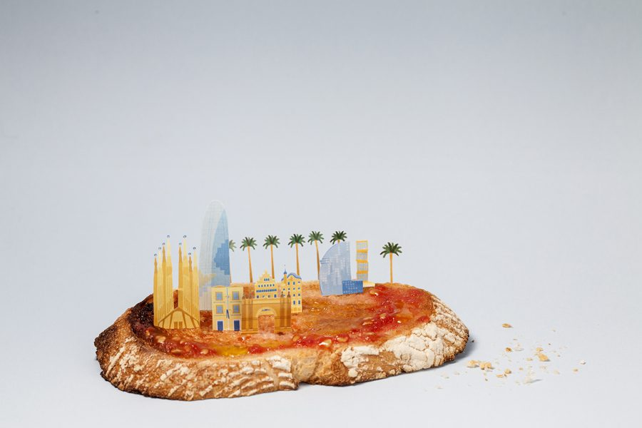 Brunchcity Barcelona sagrada familia, pan tomate
