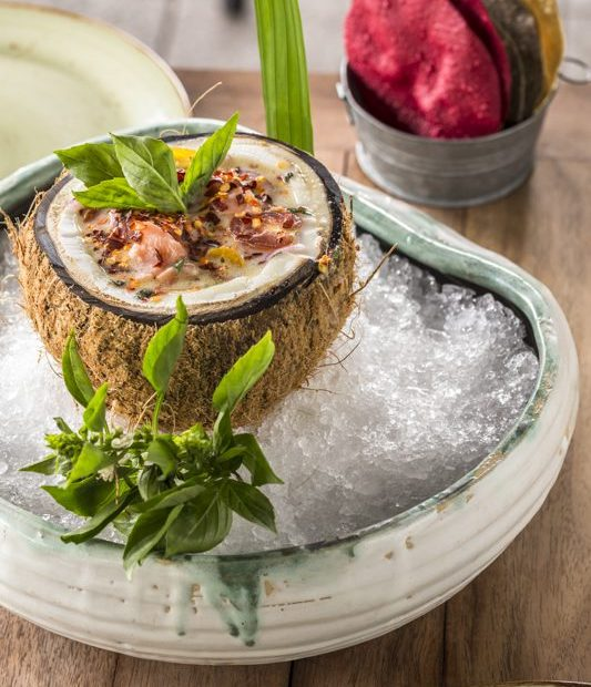 Ceviche de Salmón con Coco