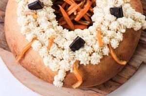 Rosca de Reyes con chocolate y naranjas caramelizadas 3