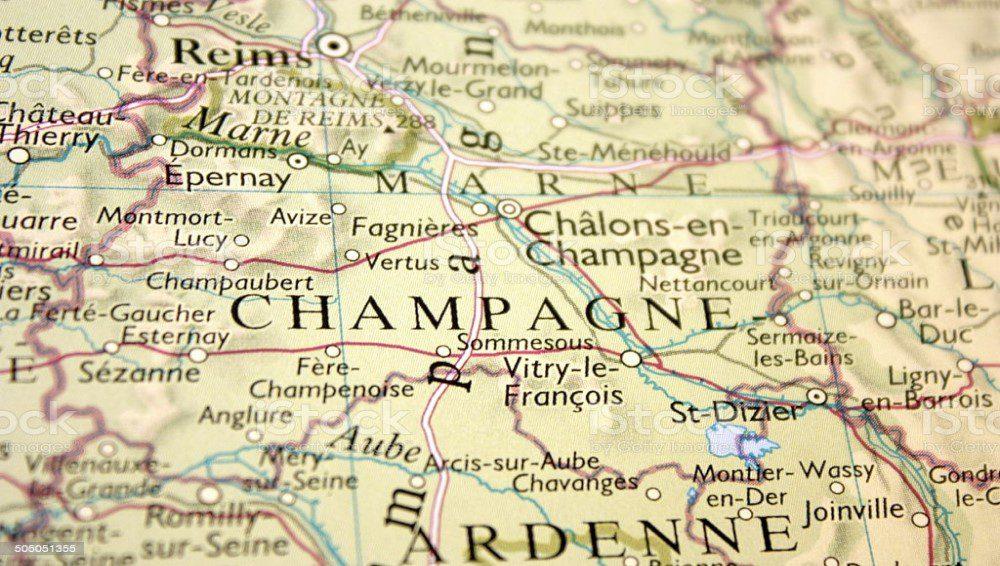 Mapa Champaña