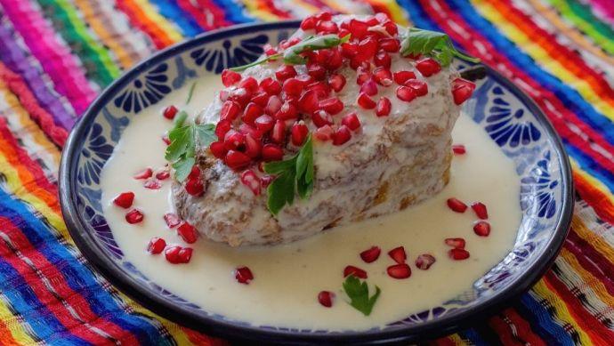 Ingredientes del chile en nogada