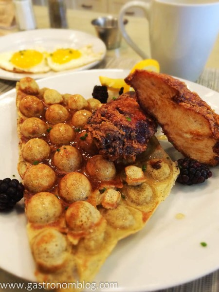 Over Easy Chicken and Waffle