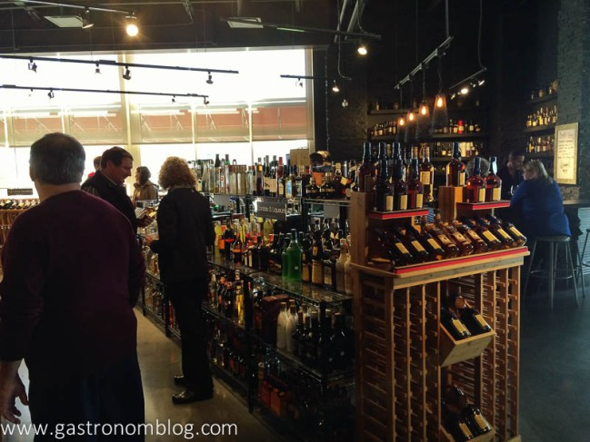 Spirit World Grand Opening - Tasting bar and shelves