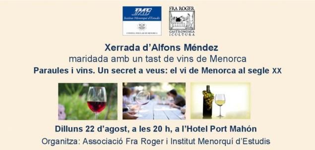 Vi Menorca s XX Alfons Mendez tarjeto
