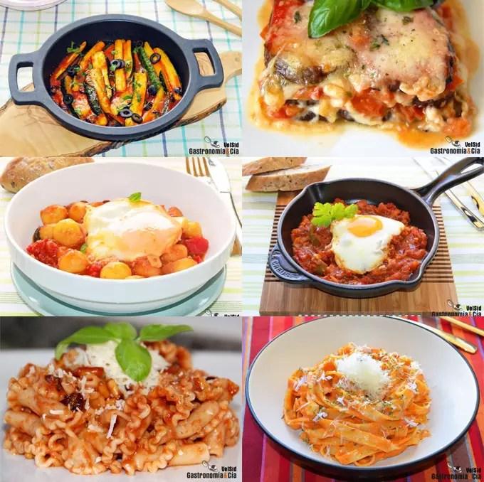 Doce recetas con salsa de tomate  Gastronoma  Ca