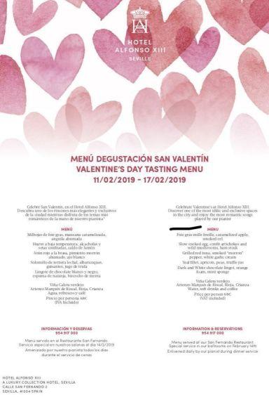 Sorprende a tu pareja en el Hotel Alfonso XIII por San Valentín - Gastronomía y Moda