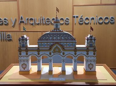 Presentación de la Portada de la Feria de Sevilla de 2019 el pasado 25 de octubre / Foto: Juan Alberto García Acevedo.