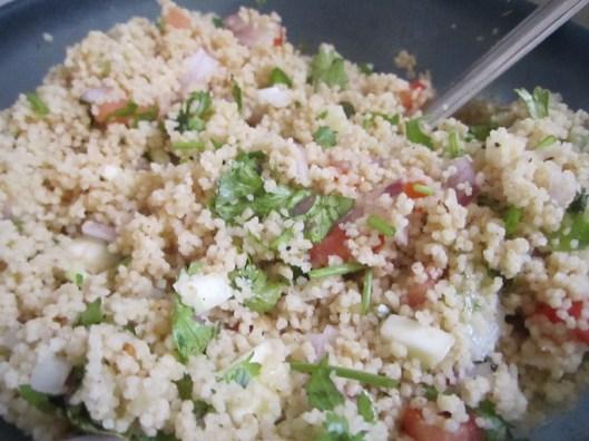 Couscous and raw mango salad Gastronomicallyurs