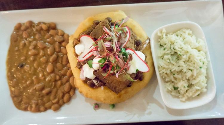 Black Sheep Cafe - brisket fry bread taco