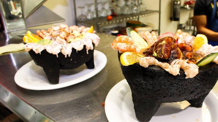 Mariscos Las Islitas - seafood molcajete. Credit, Mariscos Las Islitas.