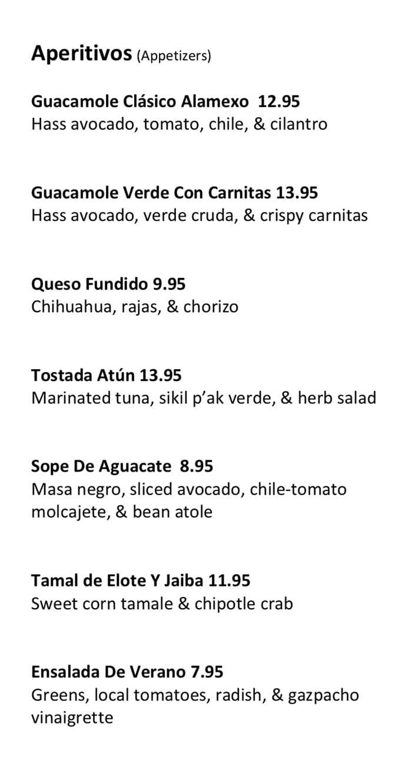 Alamexo new menu Aug 19 - appetizers