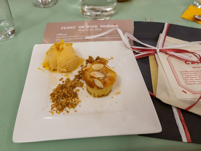 Feast Of The Five Senses 2018 - Amber Billingsley pear ricotta cake with carrot gelato