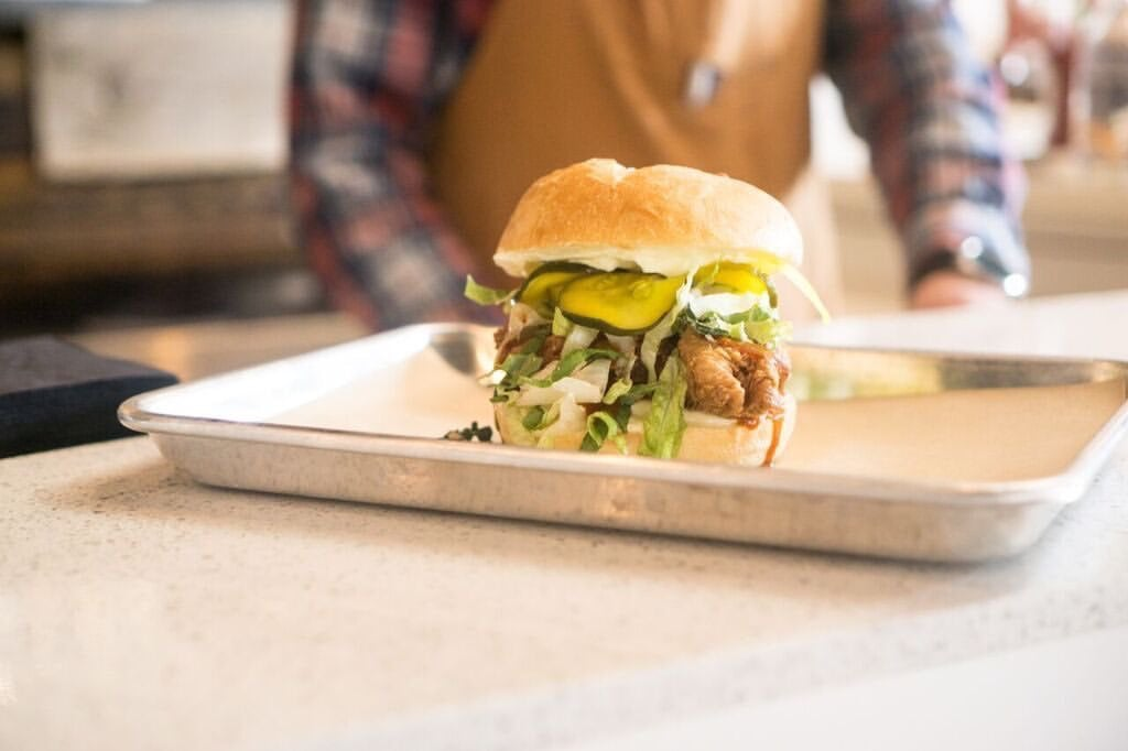 Nomad Eatery - chicken sandwich