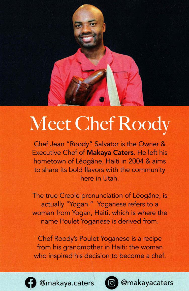 Chef Roody of Makaya Catering