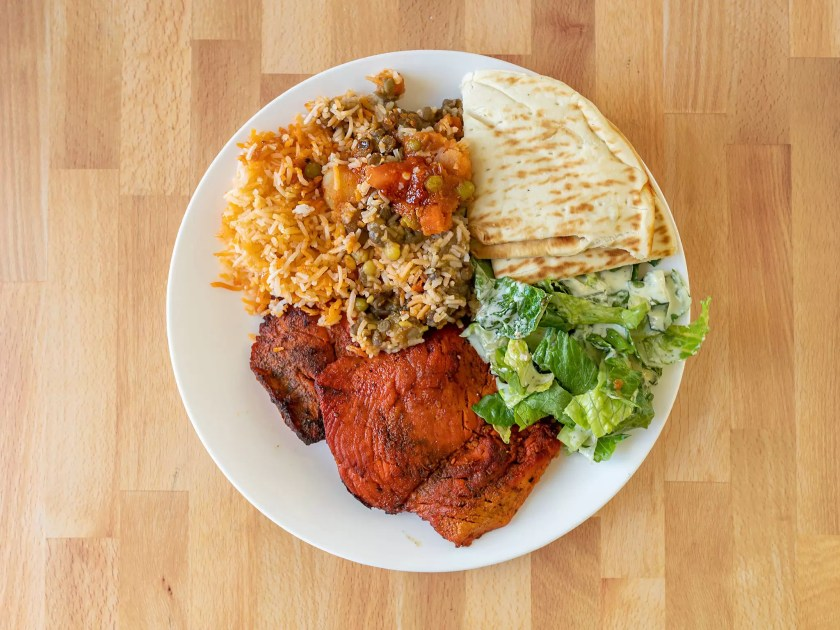 Curry Fried Chicken - tandoori chicken plate large