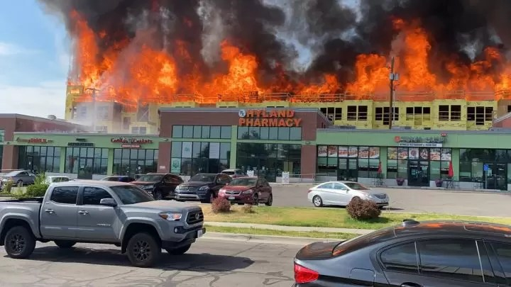 Brickyard 2021 fire blazes behind Tokai Sushi