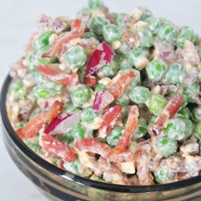 Salata De Mazare Cu Bacon Si Branza Feta