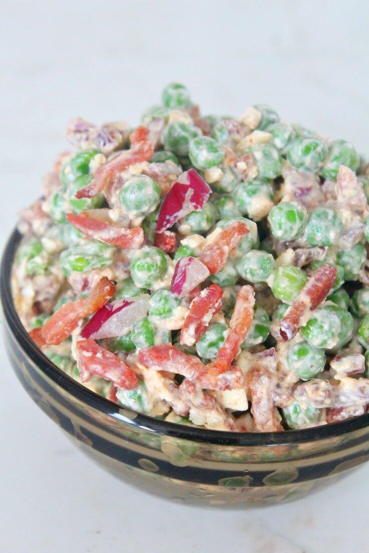 Salata de mazare cu bacon