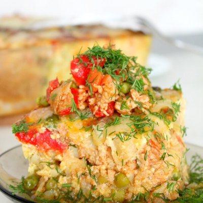 Lasagna De Cartofi, Pui Si Legume
