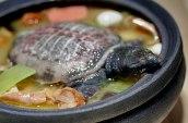 Guiso de tortuga con jamón