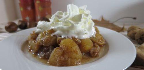 Compotée pommes & poires épicée