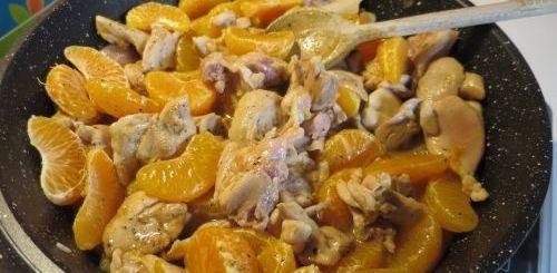Emincé de poulet aux clémentines