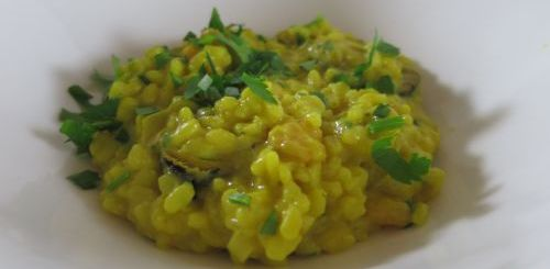 Risotto de moules au curry