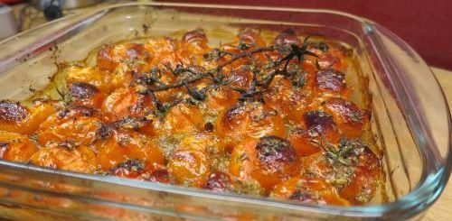Tomates cerise rôties