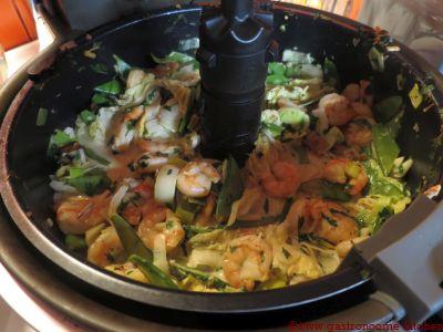 Crevettes au curry à l'actifry