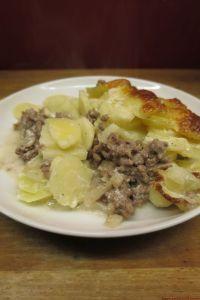Gratin de panais à la viande hachée (180 kcal/ portion de 200 gr)