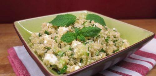 Taboulé de quinoa au concombre