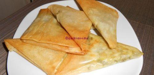 Samoussas mozzarella basilic