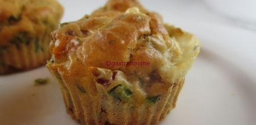 Muffins tomates séchées & cantal