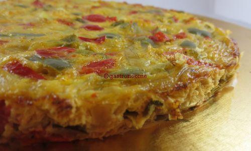 Tortilla espagnole poivrons & pommes de terre