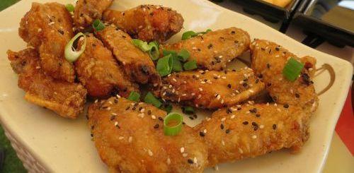 Ailes de poulet au miel et au sésame