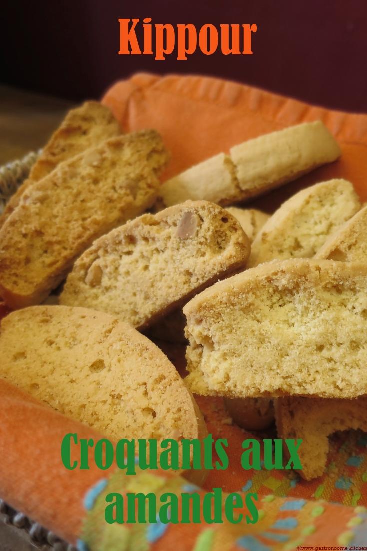 Kippour - Croquants aux amandes