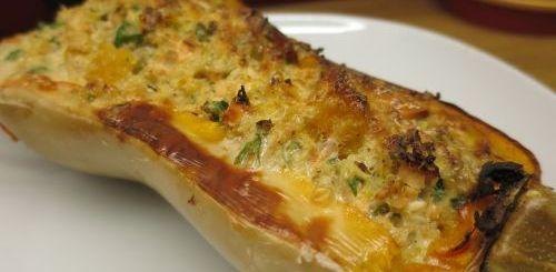 Butternut farcie au saumon