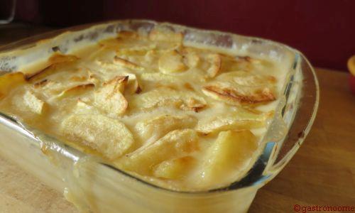 Gratin de pommes au lait de coco