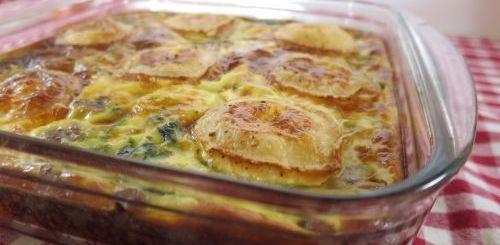 Gâteau épinards et champignons