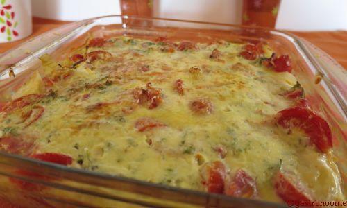 Clafoutis tomates et jambon