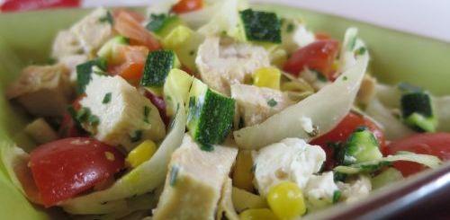 Salade de poulet extra light